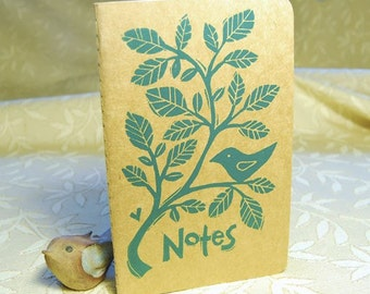 Bird And Vine Notebook