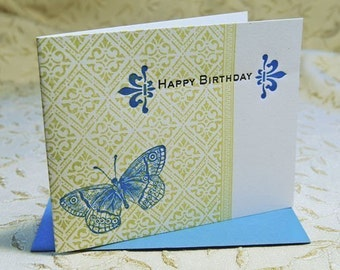 Letterpress Butterfly Birthday Card
