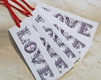 Letterpress Love Tags