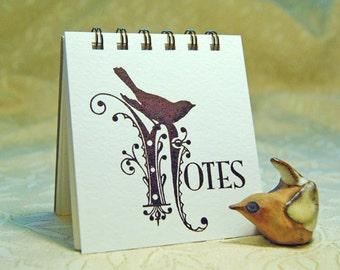 Letterpress Bird Notepad