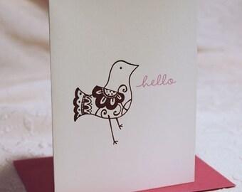 Hello Birdie Letterpress Notes