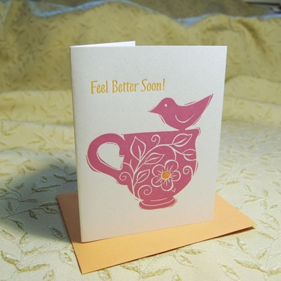 Tea and Sympathy Get Well Card