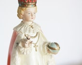 Holy Infant of Prague chalkware statue