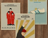 Wes Anderson set of 3 limited edition prints