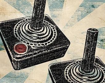 6x6 Atari Joysticks Print