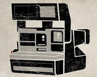 6x6 Polaroid Camera Print