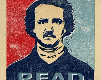 Edgar Allan Poe Print - The READ series