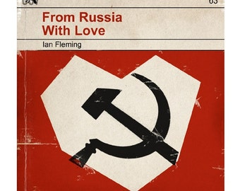 6x6 From Russia with Love - Classic Vintage Book Cover Print
