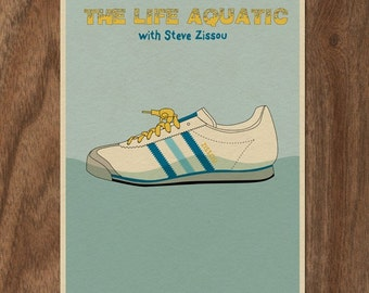 THE LIFE AQUATIC with Steve Zissou 16x12 Minimalist Movie Poster Print