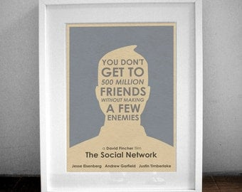 16x12 The Social Network Movie Poster Print