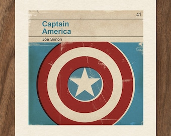 Classic Vintage Marvel Penguin Book Cover Print - Captain America