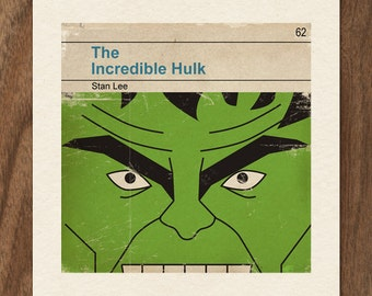 Classic Vintage Marvel Penguin Book Cover Print - The Incredible Hulk