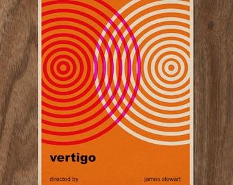 VERTIGO Minimalist Typographic 16 x 12 Movie Poster Print