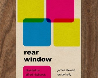 REAR WINDOW Minimalist Typographic Movie Limited Edition Print