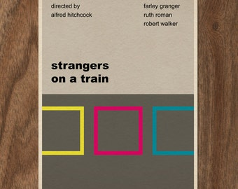 Strangers On a Train 16x12 movie poster print