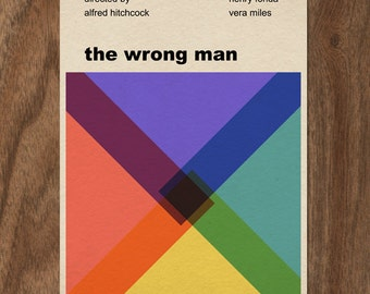 Alfred Hitchcock The Wrong Man 16x12 movie poster print
