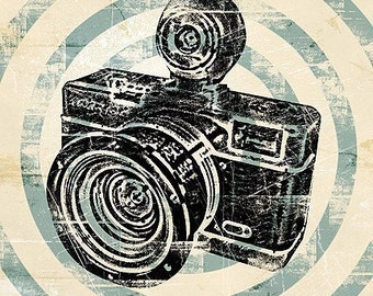 Vintage Camera Retro Pop Art Print