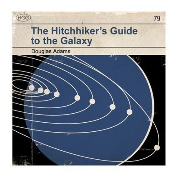Hitchhiker's Guide to the Galaxy - Classic Vintage Book Cover Print