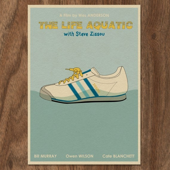 THE LIFE AQUATIC with Steve Zissou 16x12 Minimalist Movie Poster Print