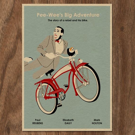 Pee-Wee's Big Adventure 16x12 Movie Poster