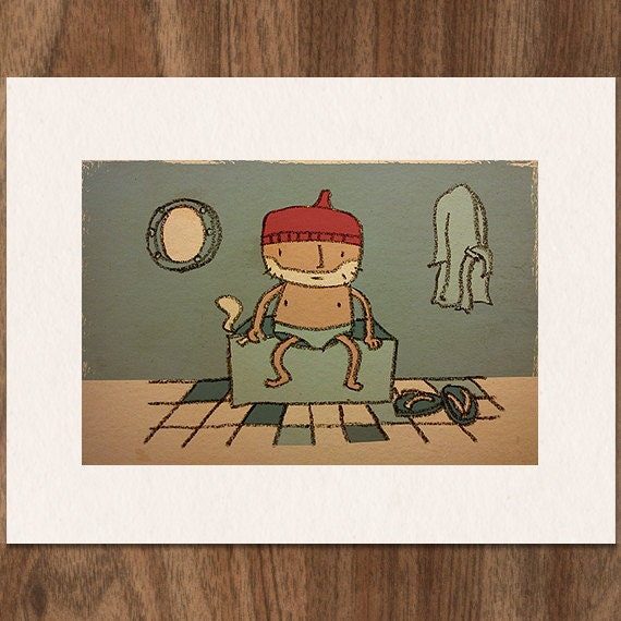 Wes Anderson THE LIFE AQUATIC with Steve Zissou Limited Edition Print