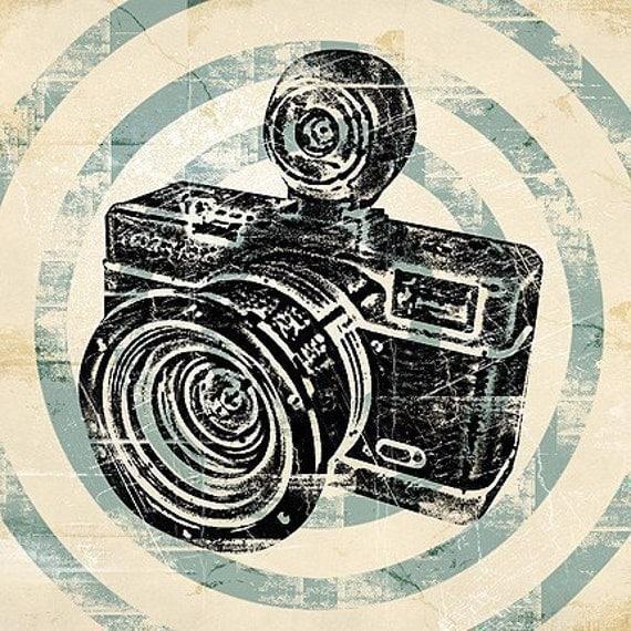 Vintage Camera Retro Pop Art Print