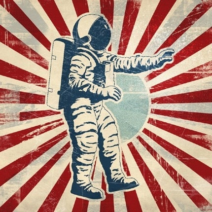 Go Back  gt  Gallery For  gt  Retro Astronaut DrawingRetro Astronaut Drawing