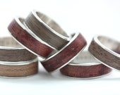 male SILVER WOOD ring cherry (tinted)