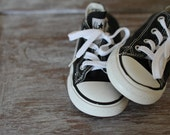 Black Kids Converse All Star - Chuck Taylor Lace Up Sneakers - Retro Shoes - Chucks With Laces Children Clothing Clothes