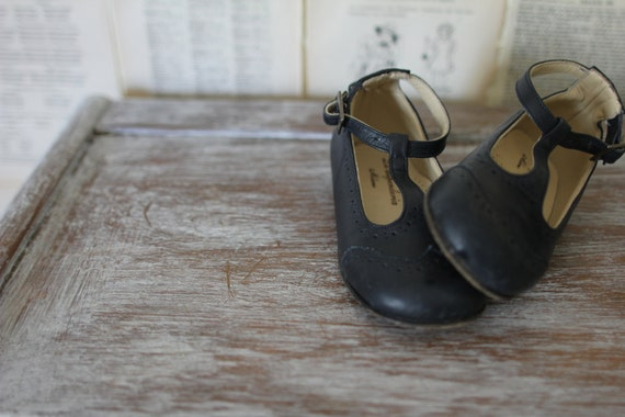 Vintage Mary Janes Retro Navy Blue T Strap By Audreyblissful