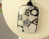 Black and White    Millefiori Necklace