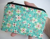 MOVING SALE SALE Sweet Little Coin Purse Zipper pouch Gadget Case New Eco Friendly Sweet Kitchen Teal (Padded)