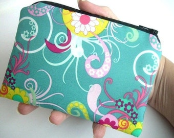 Little Zipper Pouch ECO Friendly Padded Coin Purse Sea Breeze LIMITED