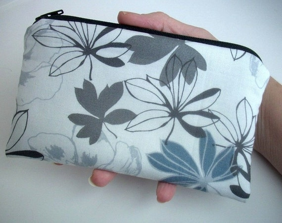 Slate Large Zipper Pouch Gadget Case Pencil Pouch ECO Friendly Padded Slate Etchings