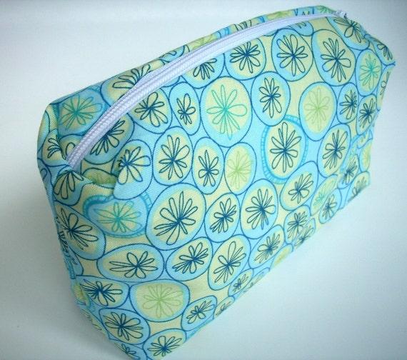 NEW ITEM and DESIGN ---Urban Garden Green  Boxie Travel zipper pouch