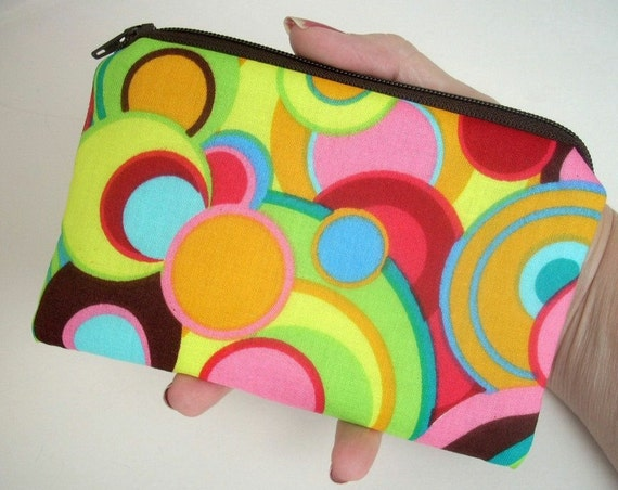 Bright Little Zipper Pouch Coin Purse Padded ECO Friendly  Inspiration Circles