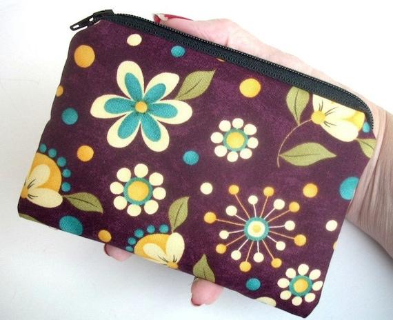 Violet Zipper pouch Little Coin Purse Gadget Case Padded - Eco  FRIENDLY Grand Violet