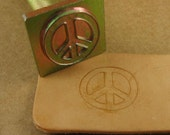 Peace Sign Leather Stamp - Includes Handle