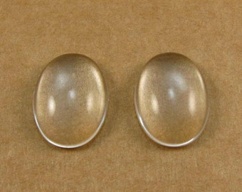18mm Oval Glass Domes for Large Oval Bezels - One Pair