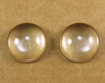 18mm Round Glass Domes for Round Bezels - One Pair