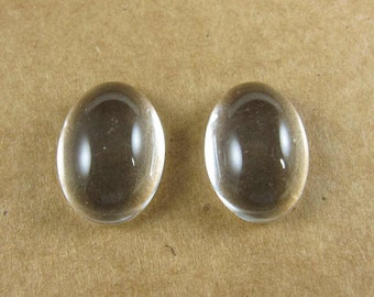 14mm Oval Glass Domes for Small Oval Bezels - One Pair