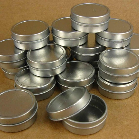 1/4  Oz. Silver Round Metal Tins - Set of 48 Tiny Containers