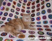 Sunflower Squares Afghan Pattern -- Crochet PDF