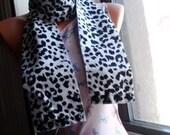 Hey Stud Snow Leopard Scarf