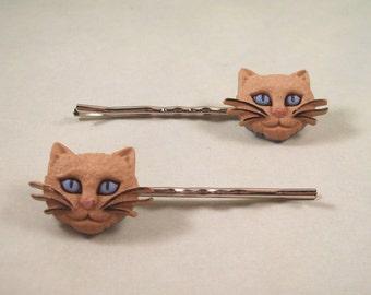 Kitty Hair Pins