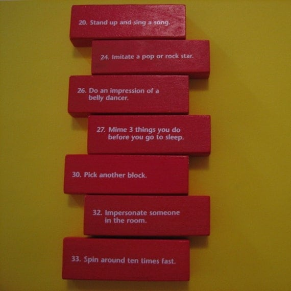 Jenga Truth or Dare Necklaces