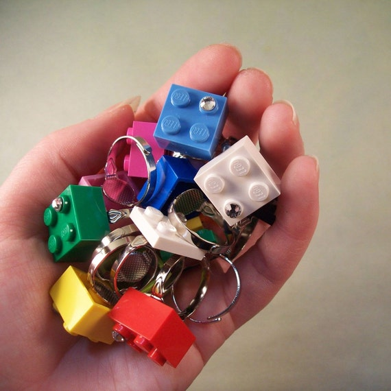 Building Brick Swarovski Ring (your choice)