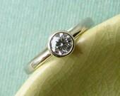 Diamond Solitaire Ring - Custom for thatistheplan