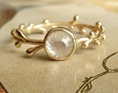 White Rose Cut Diamond Wreath Ring - Deposit