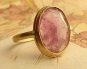Pink Rose Cut Sapphire Ring - Large